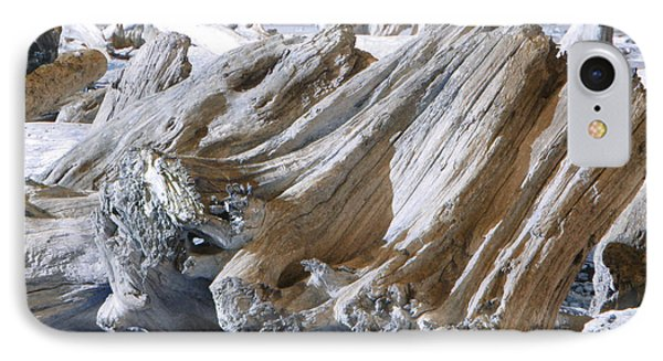 Ocean Driftwood Landscape Art Prints Coastal Views Phone Case by Baslee Troutman