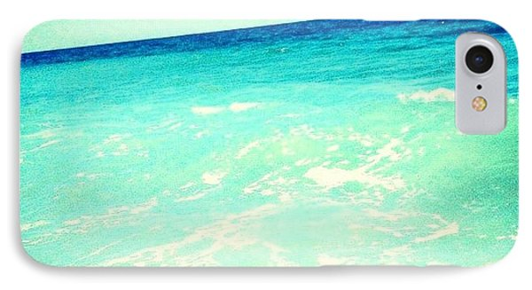 #ocean #plain #myrtlebeach #edit #blue IPhone Case by Katie Williams