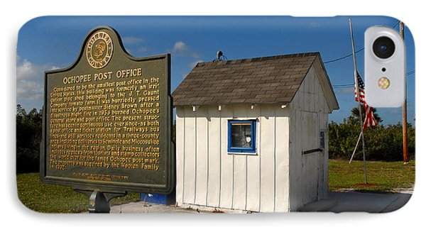 Ochopee Post Office IPhone Case by David Lee Thompson