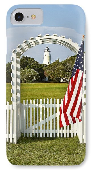 Ocracoke Lighthouse July 4th IPhone Case by Bill Swindaman