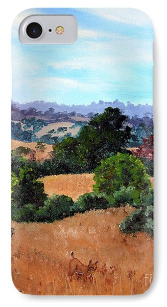 October View Of Arastradero IPhone Case by Laura Iverson