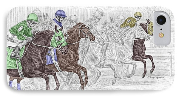 odds are tb horse racing print color tinted phone case by kelli swan