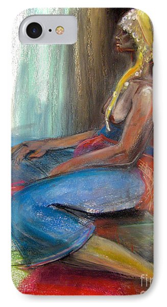 IPhone Case featuring the drawing Odelisque 2 by Gabrielle Wilson-Sealy