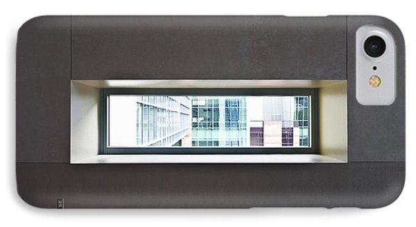 Office Buildings Seen Through Window Phone Case by Dave & Les Jacobs