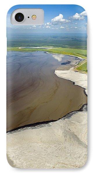 Oil Plant Settling Pond IPhone Case by David Nunuk