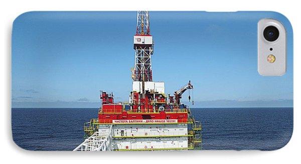Oil Production Rig, Baltic Sea Phone Case by Ria Novosti