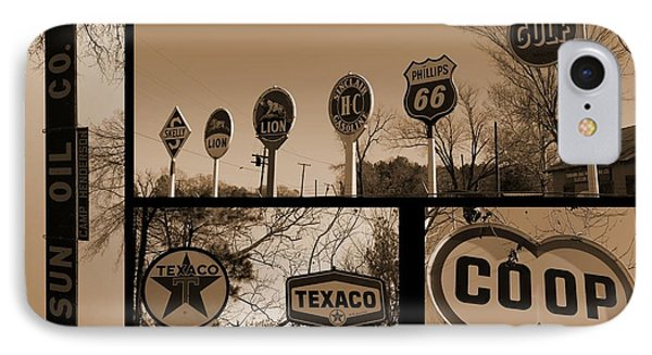 Oil Sign Retirement IPhone Case by Betty Northcutt