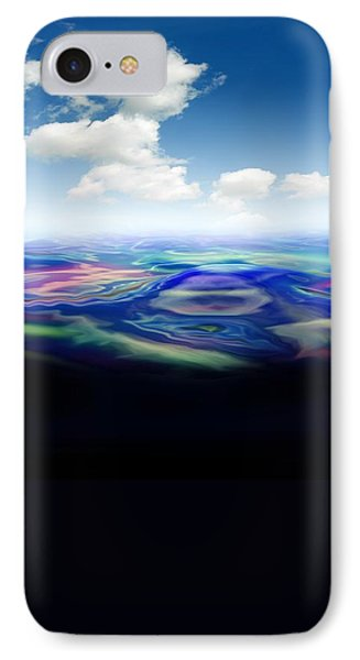 Oil Spill, Artwork IPhone Case by Victor Habbick Visions