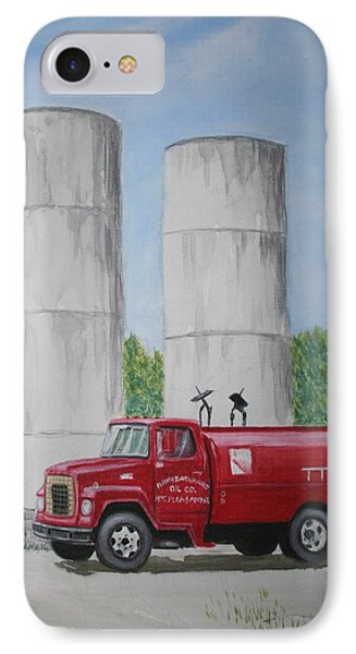 Oil Truck IPhone Case by Stacy C Bottoms