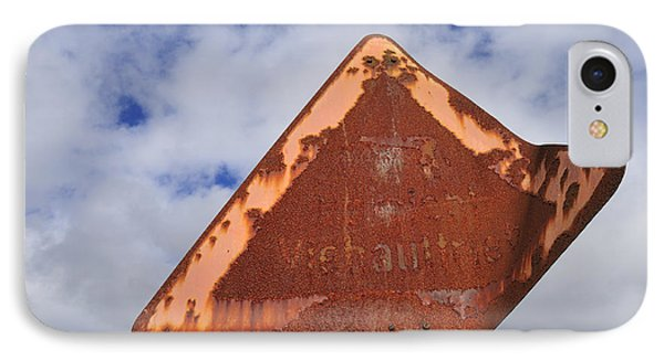 Old And Rusty Traffic Sign Phone Case by Matthias Hauser