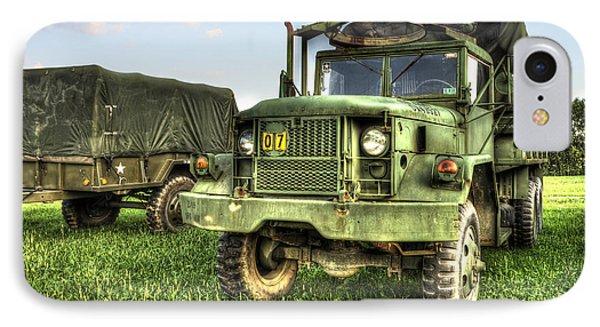 Old Army Truck In Field Phone Case by Dan Friend