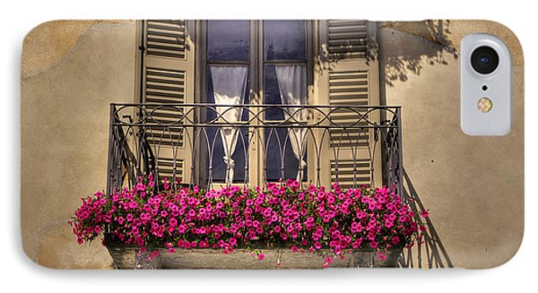 Old Balcony With Red Flowers Phone Case by Mats Silvan