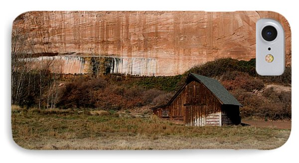 IPhone Case featuring the photograph Old Barn In Angel Canyon #1  by Nola Lee Kelsey