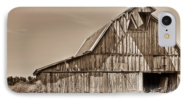 Old Barn In Sepia Phone Case by Douglas Barnett