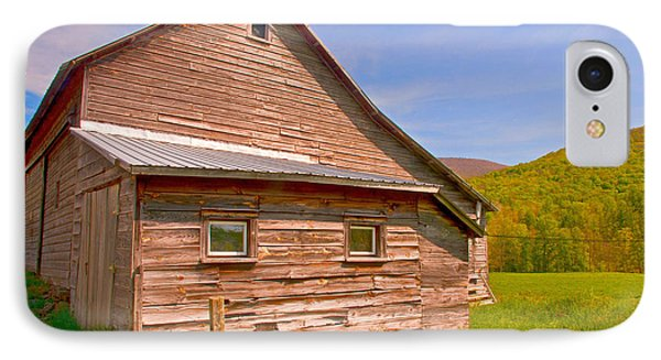 IPhone Case featuring the photograph Old Barn In The Valley by Nancy De Flon