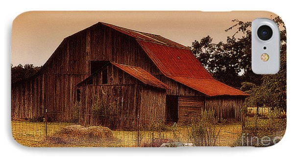 IPhone Case featuring the photograph Old Barn by Lydia Holly
