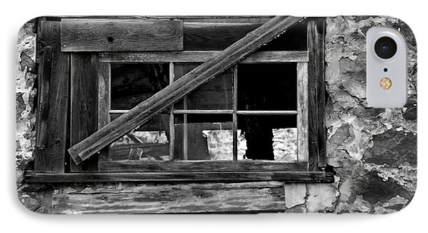 Old Barn Window Phone Case by Perry Webster