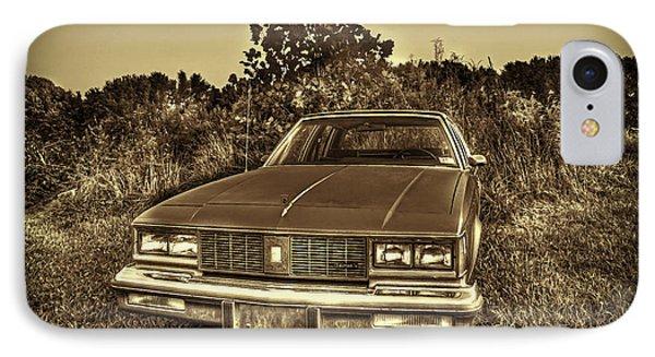 Old Car In Field Phone Case by Dan Friend