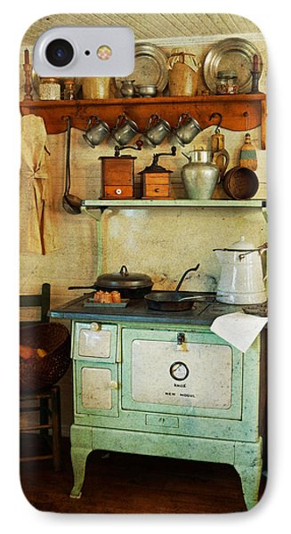 Old Cast Iron Cook Stove Phone Case by Carmen Del Valle
