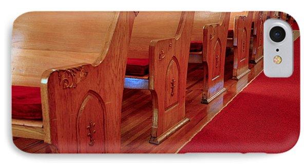 Old Church Pews Phone Case by LeeAnn McLaneGoetz McLaneGoetzStudioLLCcom