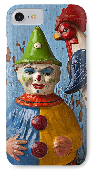 Old Clown And Roster Phone Case by Garry Gay