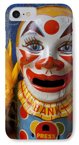 Old Clown Bank Phone Case by Garry Gay