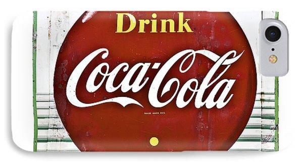 Old Coke Sign Phone Case by Susan Leggett