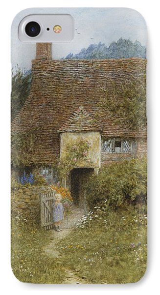 Old Cottage Witley Phone Case by Helen Allingham