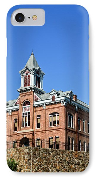 Old Courthouse Powhatan Arkansas 1 Phone Case by Douglas Barnett