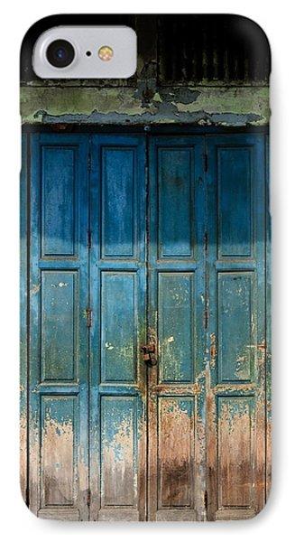 old door in China town IPhone Case by Setsiri Silapasuwanchai
