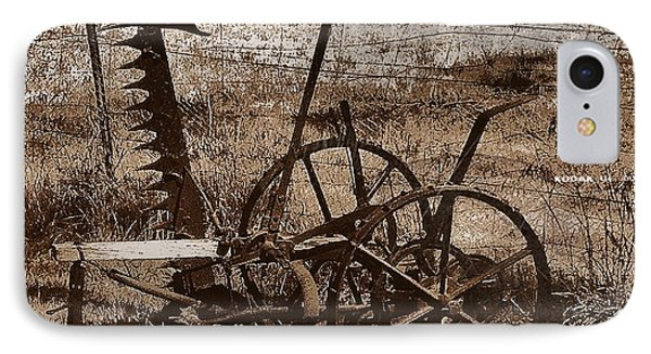 IPhone Case featuring the photograph Old Farm Equipment by Blair Stuart