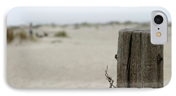 Old Fence Pole IPhone Case by Henrik Lehnerer