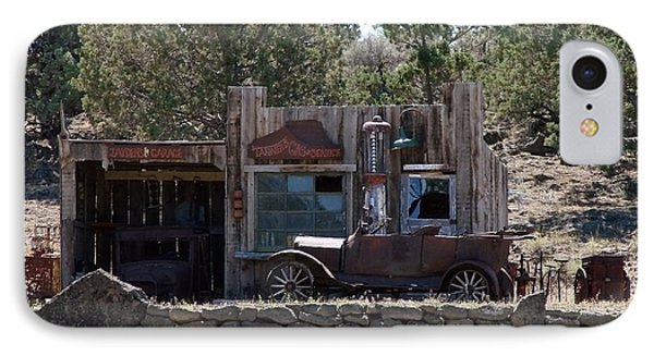 Old Filling Station IPhone Case by Athena Mckinzie