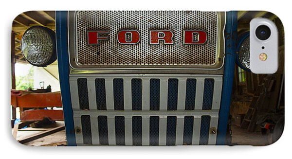 Old Ford Tractor IPhone Case by Robert Margetts