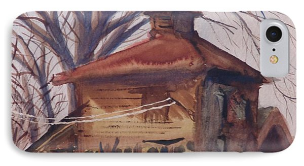 IPhone Case featuring the painting Old Garage by Rod Ismay