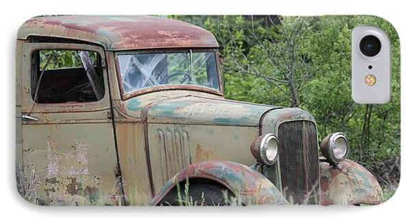 Abandoned Truck In Field IPhone Case by Athena Mckinzie