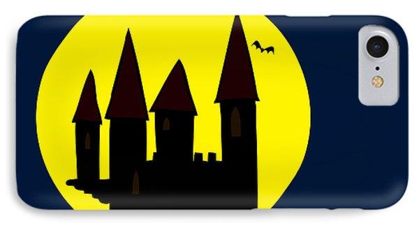 Old Haunted Castle In Full Moon Phone Case by Michal Boubin