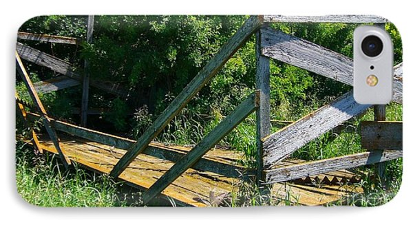 IPhone Case featuring the photograph Old Hayrack by Jim Sauchyn