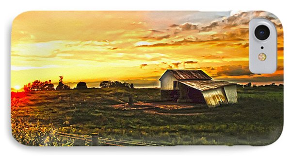 Old Horse Shed At Sundown Phone Case by Randall Branham