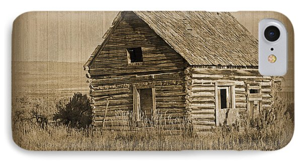 Old Hunting Cabin - Wyoming Phone Case by Donna Greene