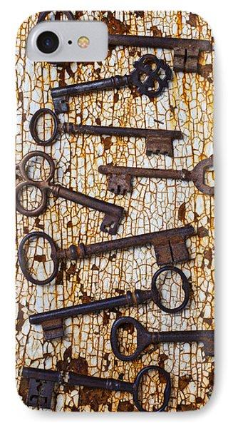 Old Keys Phone Case by Garry Gay