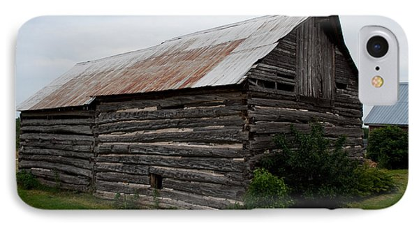 IPhone Case featuring the photograph Old Log Building by Barbara McMahon