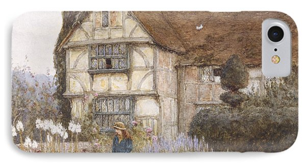 Garden iPhone 7 Case - Old Manor House by Helen Allingham