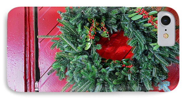 Old Mill Of Guilford Door Wreath Phone Case by Sandi OReilly