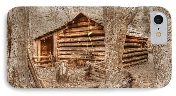 Old Mill Work Cabin IPhone Case by Dan Stone