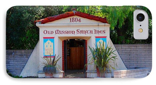Old Mission Santa Ines Solvang California Phone Case by Susanne Van Hulst