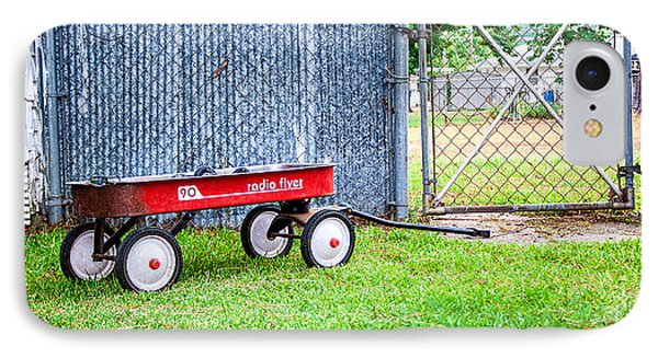 IPhone Case featuring the photograph Old Radio Flyer Wagon by Ester  Rogers
