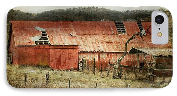 IPhone Case featuring the photograph Old Red Barn by Joan Bertucci