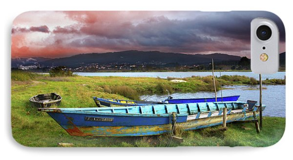 Old Row Boats IPhone Case by Carlos Caetano