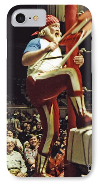 IPhone Case featuring the photograph Old School Wrestling From The Cow Palace With Moondog Mayne by Jim Fitzpatrick